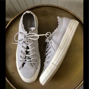 CONVERSE FRILLY THRILLS. LOW TOP. GREY. 7.…